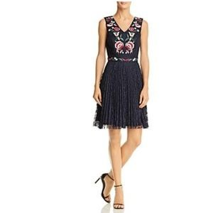Nanette Lepore Floral Embroidery Lace  Blue